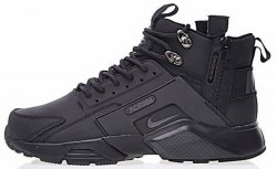 "Кроссовки зимние! Huarache X Acronym City MID Leather ""All Black"" Winter Nike"