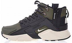 "Кроссовки зимние! Huarache X Acronym City MID Leather ""Haki Black"" Winter Nike"