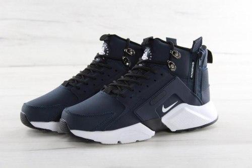 Кроссовки зимние! Huarache X Acronym City MID Leather Navy/White Winter Nike