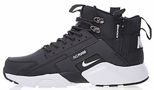 Кроссовки зимние! Huarache X Acronym City MID Leather Black/White Winter Nike