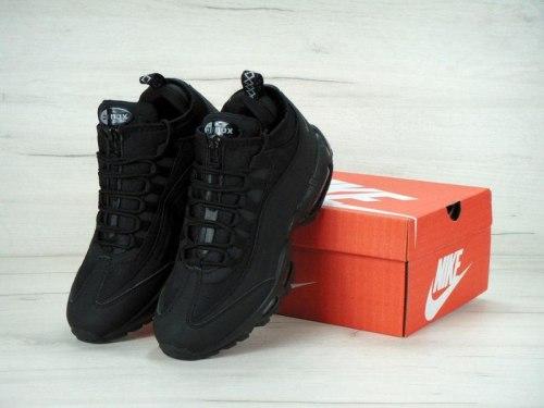 """Кроссовки зимние! Air Max 95 Sneakerboot """"Triple Black"""" 2017 Nike"""