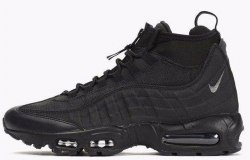 "Кроссовки зимние! Air Max 95 Sneakerboot ""Triple Black"" 2017 Nike"