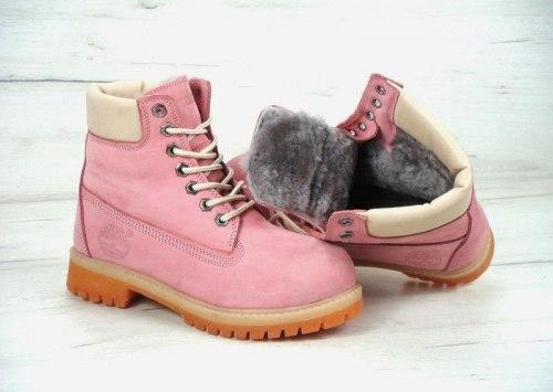 Ботинки зимние Pink (розовые) Timberland