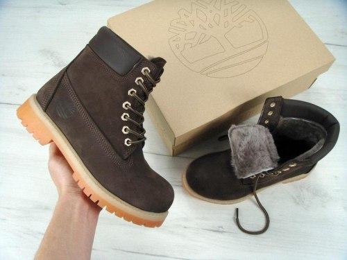 Ботинки зимние Brown (коричневые) Timberland