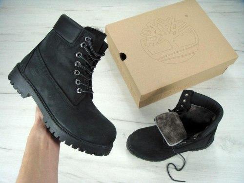 Ботинки зимние All Black (Полностью чёрные) Timberland