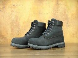 Ботинки зимние Black grey (черные с серым) Timberland