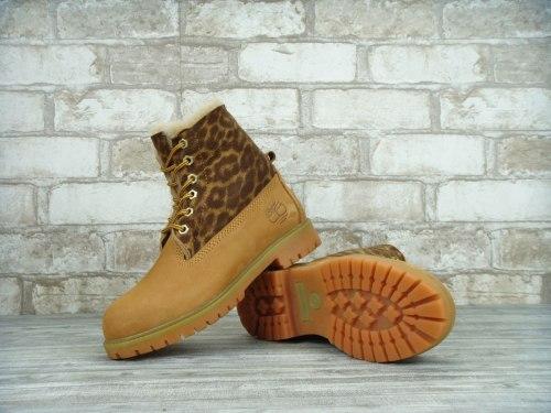 Ботинки зимние Yellow leopard (жёлтый леопард) Timberland