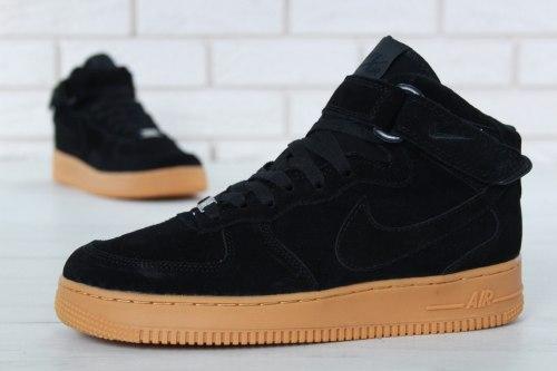 Кроссовки зимние С МЕХОМ! Air Force Winter Black Nike