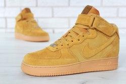 Кроссовки зимние С МЕХОМ! Air Force Winter Yellow Nike