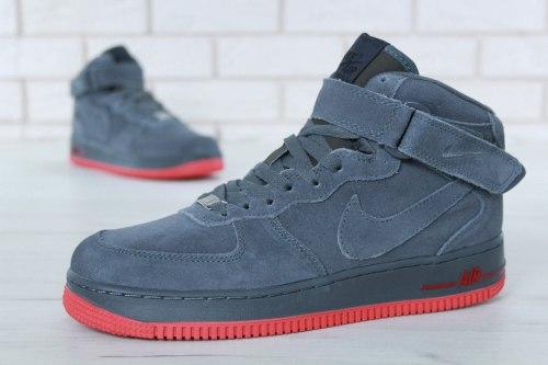 Кроссовки зимние С МЕХОМ! Air Force Winter Grey Nike