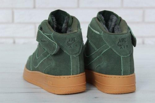 Кроссовки зимние С МЕХОМ! Air Force Winter Green Nike
