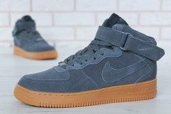 Кроссовки зимние С МЕХОМ! Air Force Winter Grey Brown Nike
