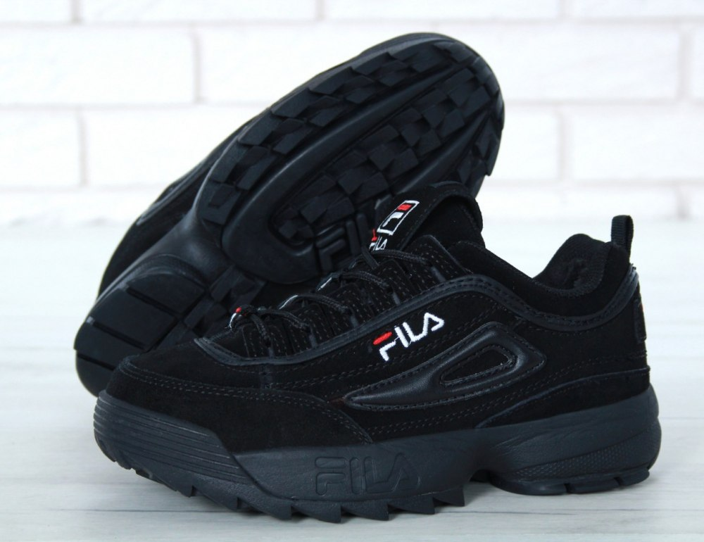ᐉ Купить Кроссовки зимние с мехом Disruptor II Leather Black Winter ... be26459818a9c