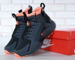 Кроссовки зимние С МЕХОМ! Huarache X Acronym City Winter Black/Orange Nike