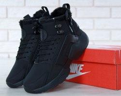 Кроссовки зимние С МЕХОМ! Huarache X Acronym City Winter Black Nike