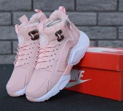 Кроссовки зимние С МЕХОМ! Huarache X Acronym City Winter Pink Nike