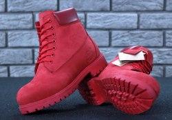 Ботинки зимние Red (красные) Timberland