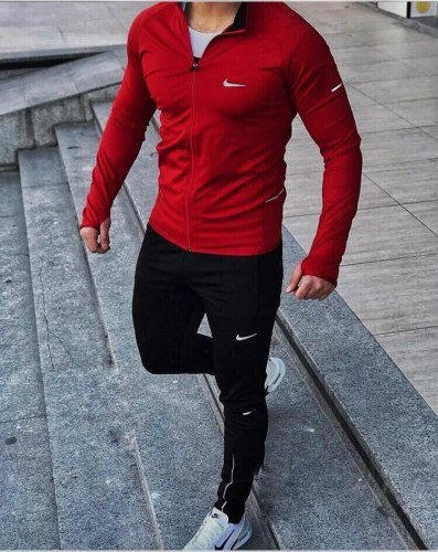 Спортивный костюм NIKE-02 красный Black Island