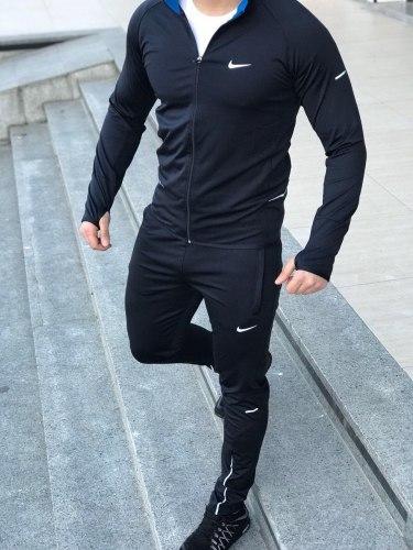 Спортивный костюм NIKE-02 чёрный Black Island