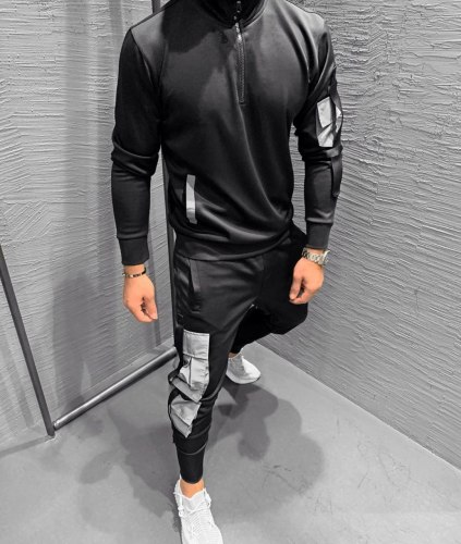 Спортивный костюм 7145-2542 серый Black Island
