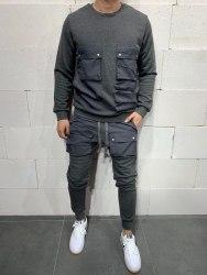 Спортивный костюм brs5115 серый Black Island