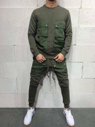 Спортивный костюм brs5115 зелёный Black Island