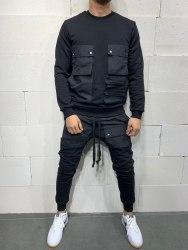 Спортивный костюм brs5115 чёрный Black Island