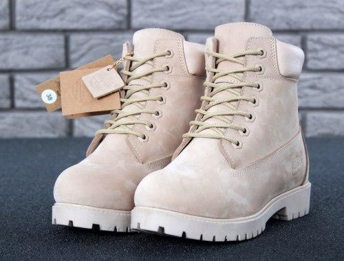 Ботинки зимние (бежевые) Timberland