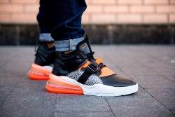 Кроссовки Air max 270 Black White Orange Nike