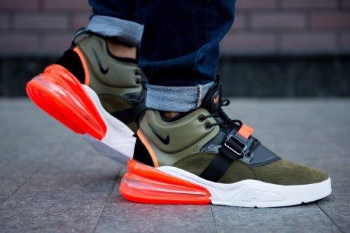 Кроссовки Air max 270 White green orange Nike