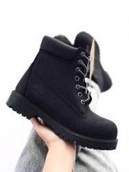 Ботинки зимние Black (чёрные) Timberland