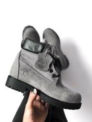 Ботинки зимние Grey (серые) Timberland