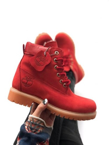 Ботинки зимние Red (красные-0) Timberland