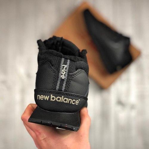 Кроссовки зимние 754 Black winter С МЕХОМ! New Balance