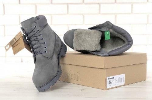 Ботинки зимние All Grey (полностью серые) Timberland