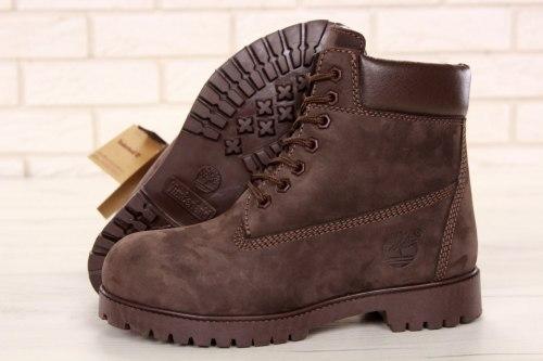 Ботинки зимние All Brown (полностью коричневые) Timberland