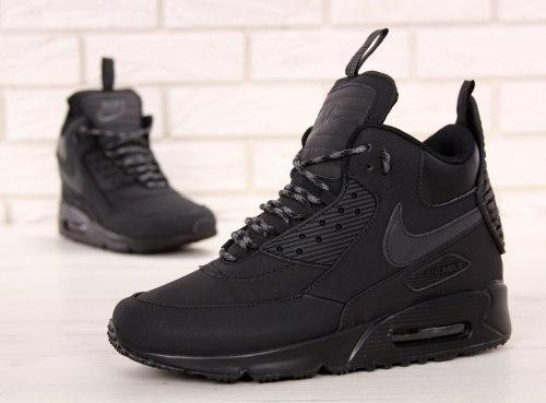 Кроссовки зимние! Air Max 90 Sneakerboot Winter Black Nike