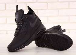 Кроссовки зимние! Air Max 90 Sneakerboot Winter Black Nike