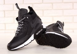 Кроссовки зимние! Air Max 90 Mid Winter Black/White Nike
