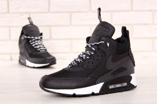 Кроссовки зимние! Air Max 90 Mid Winter Black/White Nike