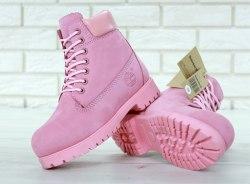 Ботинки зимние PINK (розовый) Timberland