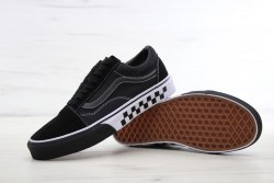 Old Skool Black black bumper Vans