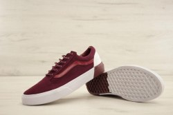 Old Skool Burgundy/White Women Vans