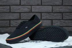 Кеды Authentic (Rasta) Black / Black Skate Shoes V a n s