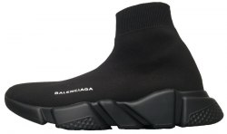 Knit High-Top Sneakers Black/Black Women Balenciaga