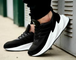 Sharks Boost Black White Adidas
