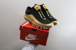 Air Max 97 QS Black/Varsity Red-Metallic Gold Women Nike