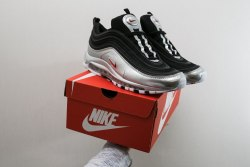 Air Max 97 QS 'Black/Metallic Silver Women Nike