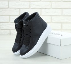 Oversized Sneakers Black|White HI Alexander McQueen