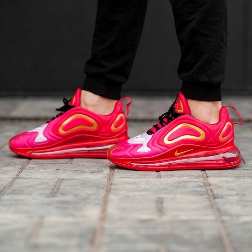 Air Max 720 Red Pink Gold Nike